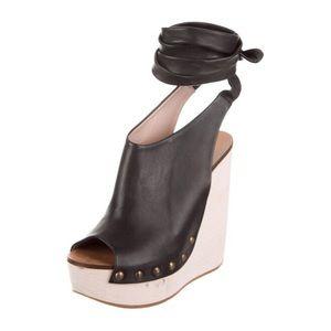Chloé Penelope Wrap Wedge Heels